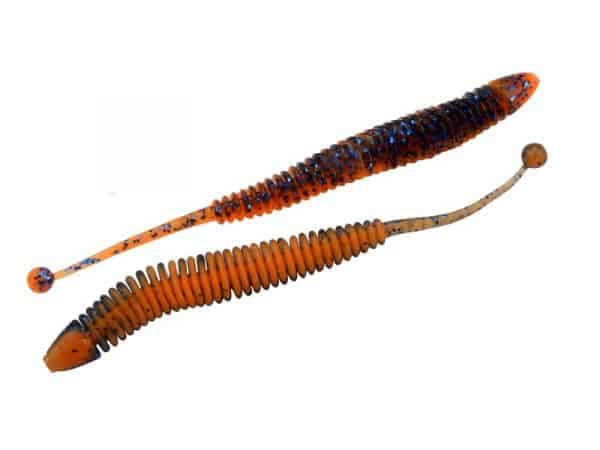 Omura Baits Snake - Floating-Blå m/glitter-neon orange UV-Hvidløg