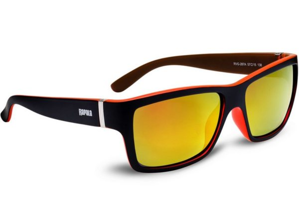 Rapala Urban Vision Gear solbrille-Mat sort/rød-Cherry Red Mirror lens-287A