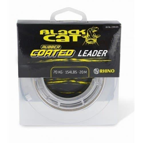 Rhino Black Cat Rubber Coated Leader
